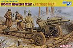 105mm Howitzer M2A1 and Carriage M2A1 w/Crew -- Plastic Model Artillery Kit -- 1/35 Scale -- #6499
