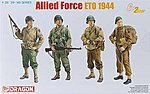 Allied Force ETO 1944 (4 Figure Set) -- Plastic Model Military Figure -- 1/35 Scale -- #6653