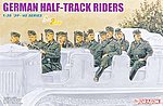 German Half-Track Riders -- Plastic Model Military Figure -- 1/35 Scale -- #6671