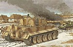 Tiger I Mid-Production w/Zimmerit -- Plastic Model Tank Kit -- 1/35 Scale -- #6700