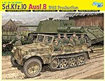 SD.KFZ.10 AUSF.B 1942 Production -- Plastic Model halftrack Kit -- 1/35 Scale -- #6731