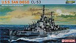USS SD CL53 Atlanta Class -- Plastic Model Military Ship Kit -- 1/700 Scale -- #7052