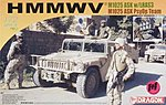 HMMWV M1025 ASK w/LRAS3 & w/Loudspeaker (2) -- Plastic Model Hummer Kit -- 1/72 Scale -- #7245