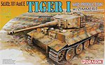 Tiger 1 Mid Production with Zimmerit -- Plastic Model Military Tank Kit -- 1/72 Scale -- #7251