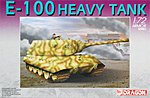 German Heavy Tank E-100 -- Plastic Model Tank Kit -- 1/72 Scale -- #7256