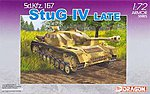 StuG IV Sd.Kfz.167 -- Plastic Model Tank Kit -- 1/72 Scale -- #7260
