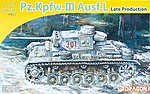 PzKpfw III Ausf L Late Production Tank -- Plastic Model Tank Kit -- 1/72 Scale -- #7385