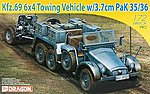 Kfz 69 6x4 Towing Vehicle w/3.7cm PaK 35/36 Gun -- Plastic Model Military Vehicle -- 1/72 -- #7419