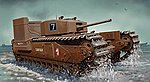 Churchill Mk III Tank w/Deep Wading Kit -- Plastic Model Military Tank Kit -- 1/72 Scale -- #7520