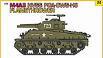 US M4A3 HVSS POA-CWS-H5 Flamethrower Tank w/ Crew -- Plastic Model Tank Kit -- 1/35 Scale -- #9124
