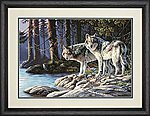 Gray Wolves -- Paint By Number Kit -- #73-91445