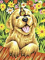 Puppy Gardener -- Paint By Number Kit -- #73-91457