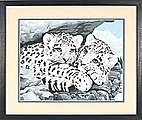 Snow Leopard Cubs -- Paint By Number Kit -- #91079