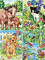Animal Friends Variety (4 Pack) -- Pencil by Number Kit -- #91274