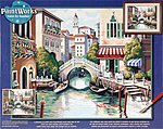Scenic Canal -- Paint By Number Kit -- #91303