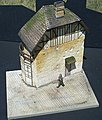 Juno 2-Story Beach House with Base (8''x10.5'') -- Plaster Model Building Kit -- 1/35 Scale -- #17