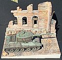 Italian Street Scene with Inclined Base -- Plaster Model Building Kit -- 1/35 -- #19