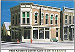Kirsten's Corner Cafe Kit (8-3/4 x 6-1/4'') -- O Scale Model Railroad Building -- #80200
