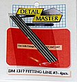 Fitting Line #7 .100'' (4pc) -- Plastic Model Vehicle Accessory Kit -- 1/24-1/25 Scale -- #1317