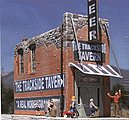The Trackside Tavern Cast Hydrocal & Plastic Kit -- N Scale Model Railroad Building -- #2009