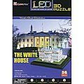 3D LED White House 56pc Puzzle -- 3D Jigsaw Puzzle -- #504h