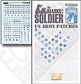 Marks of a Soldier US Army Patches -- Plastic Model Military Decal -- 1/35 Scale -- #353020