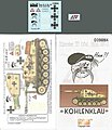 Marder II (SdKfz 131) Eastern Front -- Plastic Model Tank Decal -- 1/35 Scale -- #356064