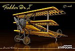 Fokker Dr I Stripdown Aircraft -- Plastic Model Airplane Kit -- 1/72 Scale -- #2114