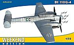 Bf110G4 Fighter (Weekend Edition) -- Plastic Model Airplane Kit -- 1/72 Scale -- #7422
