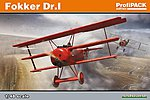 Fokker Dr I Fighter -- Plastic Model Airplane Kit -- 1/48 Scale -- #8162