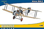 Airco DH2 BiPlane Fighter (Weekend Edition) -- Plastic Model Airplane Kit -- 1/48 Scale -- #8443