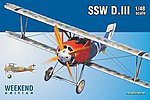 SSW D III Fighter -- Plastic Model Airplane Kit -- 1/48 Scale -- #8484
