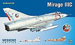 Mirage III C Fighter (Weekend Edition Kit) -- Plastic Model Airplane -- 1/48 Scale -- #8496