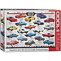 American Muscle Car Evolution 1000pcs -- Jigsaw Puzzle 600-1000 Piece -- #6000-0682