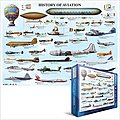 History of Aviation Collage (1000pc) -- Jigsaw Puzzle 600-1000 Piece -- #60086
