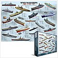 WWII Warships Collage (1000pc) -- Jigsaw Puzzle 600-1000 Piece -- #60133