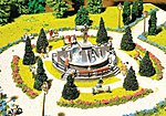 Ornamental Fountain Kit -- HO Scale Model Railroad Building -- #130232
