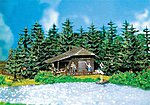 Log Cabin -- HO Scale Model Railroad Building -- #130299