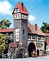 Old-Town Tower House -- HO Scale Model Railroad Building -- #130402