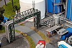 Tank Farm Piping & Filling Plant Kit -- HO Scale Model Railroad Building -- #130487