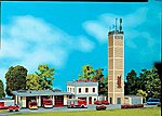 Fire Station Kit -- HO Scale Model Railroad Building -- #130989