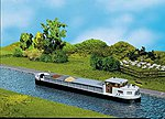 River Cargo Boat w/Cabin Kit -- HO Scale Model Accessory -- #131006