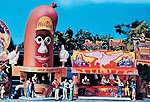 Hot Dog Man & Power Ball Booths Kit -- HO Scale Model Accessory -- #140464
