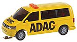 Volkswagen T5 Van ADAC (yellow, black) -- HO Scale Model Railroad Vehicle -- #161586
