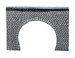 Natural Cut Stone Ashlars Tunnel Portal (Double Track -- HO Scale Model Railroad Tunnel -- #170881