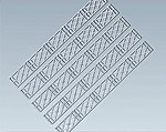 Lattice Two-Rail Fence Kit -- HO Scale Model Railroad Accessory -- #180407