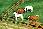 Paddock Fence #1 -- HO Scale Model Railroad Building Accessory -- #180430