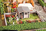 Garden with Small Garden House Kit -- HO Scale Model Railroad Building -- #180492