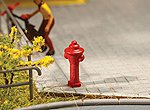 Fire Hydrants (10) -- HO Scale Model Railroad Road Accessory -- #180912