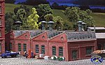 Factory Halls (2 Pack) -- N Scale Model Railroad Building -- #222203